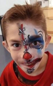 The Cincinnati Contemporary Art Museum Creepy Clown face painting