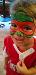Ninja turtle face painting Diamond Room PNC