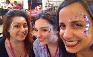Face painting El Rancho Nuevo Ohio jewels chunky glitter