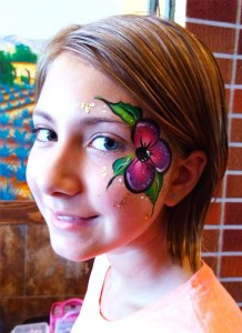 FLower face painting Cincinnati Ohio