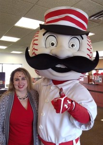 PNC Bank Face Painting Cincinnati Reds Baseball Mr. Red Legs