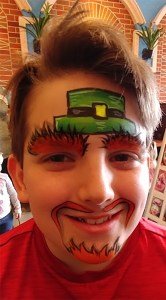 St Patty's Day Face Painting Irishman CIncinnati Ohio