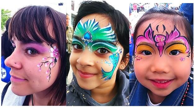 Cincinnati Food Festival 2019 Kroger face painting mermaid, butterfly cherry blossoms