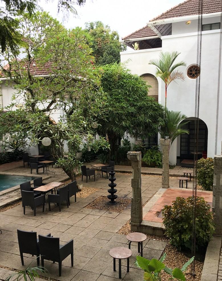 pool courtyard, Malabar House Hotel, Kochi, Fort Kochi, Cochin, Kerala, South India, India, Faces Places and Plates blog