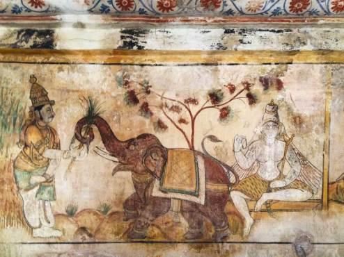 Mural, Brihadisvara Temple, Thanjavur.
