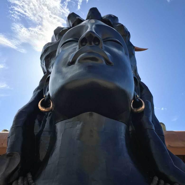 Adiyogi statue at Isha Yoga Center in Coimbatore, India