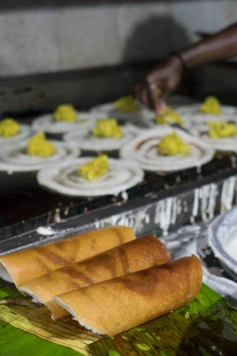 Dosa, a traditional South Indian breakfast