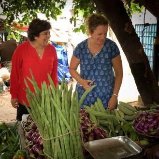 Chindi Varadarajulu with Karen Anderson, Mamallapuram, Tamil Nadu.