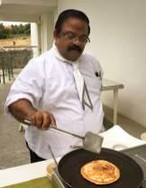 Chef Dhiraj flipping utappam