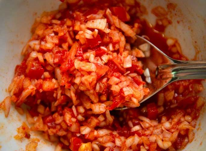 Anna Zacharria's tomato salad.