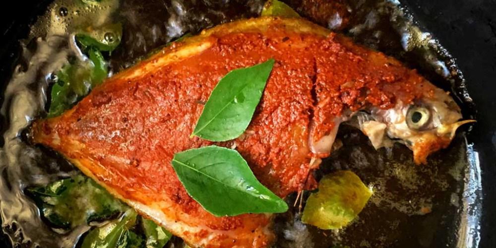 Anna Zacharria's fish fry preparation.