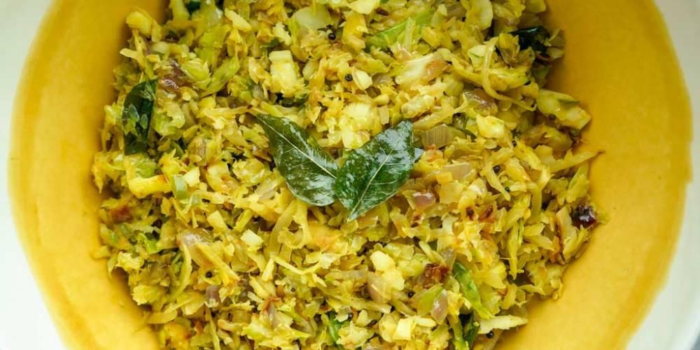Anna Zacharria's Cabbage Thoran.