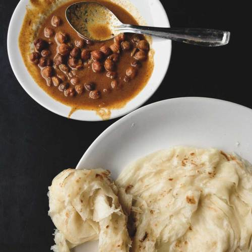 Kadala Curry and Paratha.