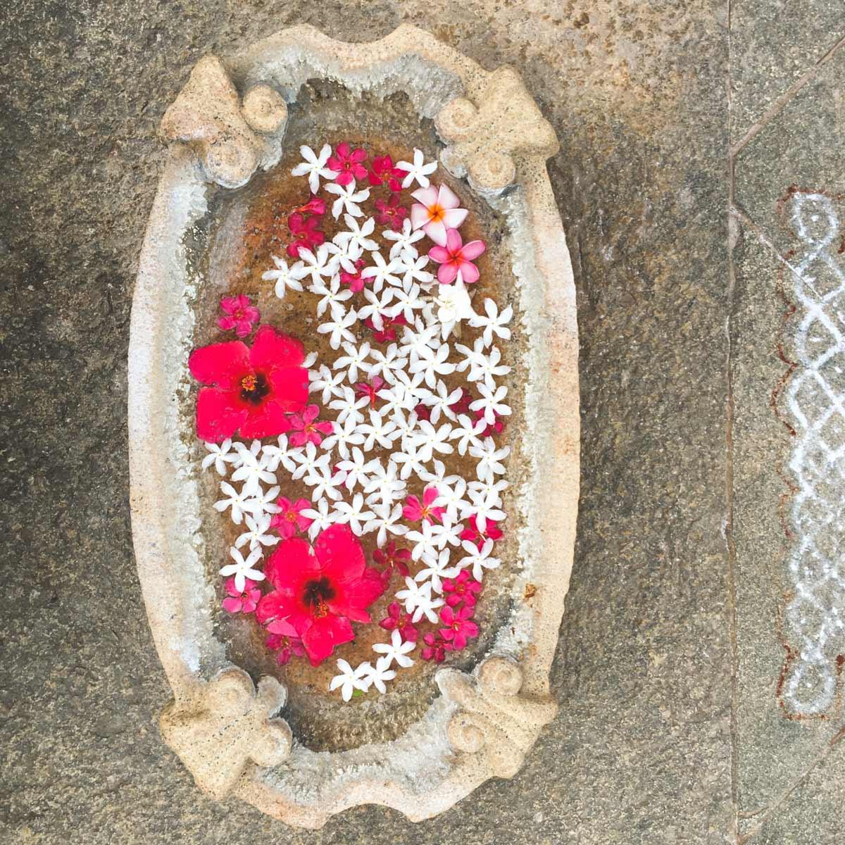 Urli Bowl with Flowers