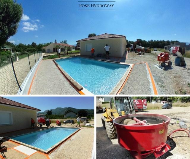 Terrasse  plage de piscine Hydroway Isère Drome- revêtement de sol extérieur drainant et perméable 2