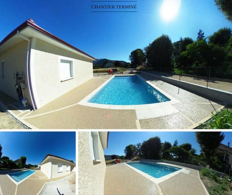 Terrasse plage de piscine Hydroway Isère Drôme 5
