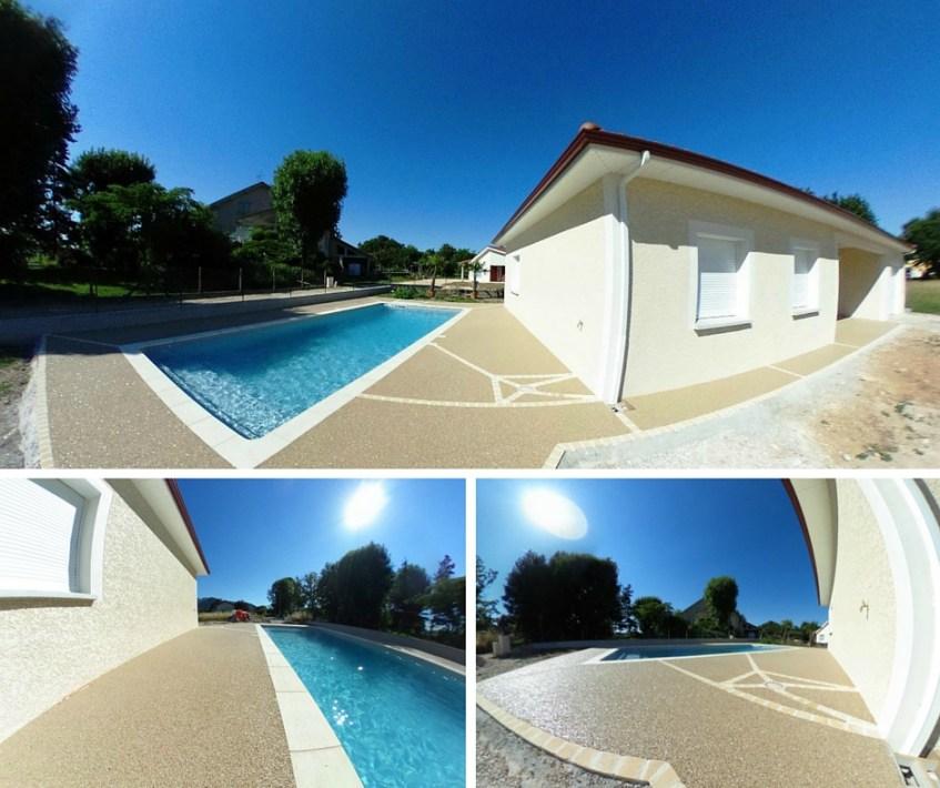Terrasse  plage de piscine Hydroway Isère Drome- revêtement de sol extérieur drainant et perméable 6