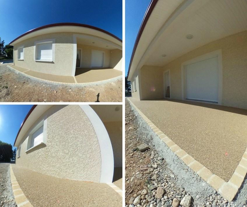 Terrasse  plage de piscine Hydroway Isère Drome- revêtement de sol extérieur drainant et perméable 7
