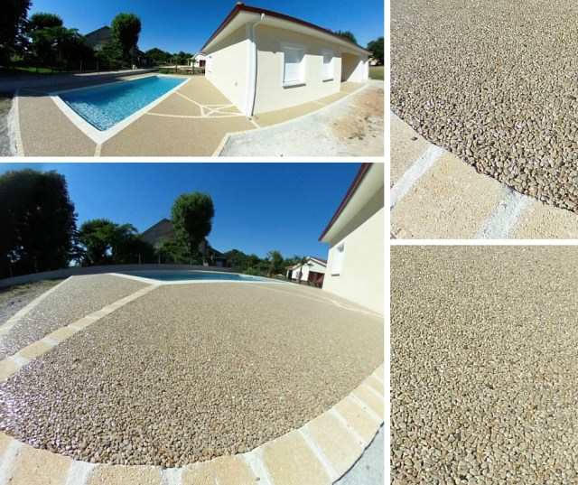 Terrasse  plage de piscine Hydroway Isère Drome- revêtement de sol extérieur drainant et perméable 8