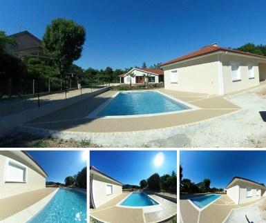 Terrasse plage de piscine Hydroway Isère Drôme 9