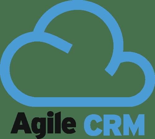 Agile CRM with a blue cloud