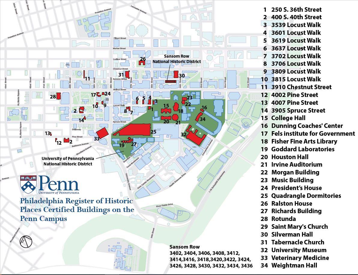 Campus Map Penn William
