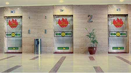 new elevator hoistway options for fire