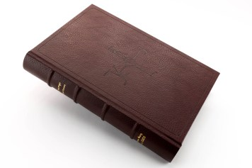 Real leather binding with Charlemagne monogram