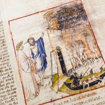 Miniature of Dante Gradenighiano's facsimile