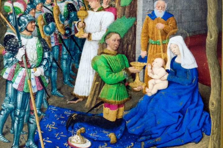 Nativity scene from the Book of hours of Étienne Chevalier