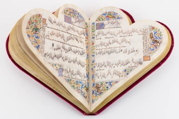 Open heart-shaped book