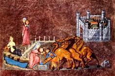 Vienna Genesis, detail of miniature