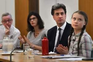 Greta Thunberg meets UK politicians
