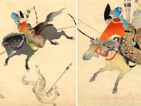 Image result for samurai shooting dogs