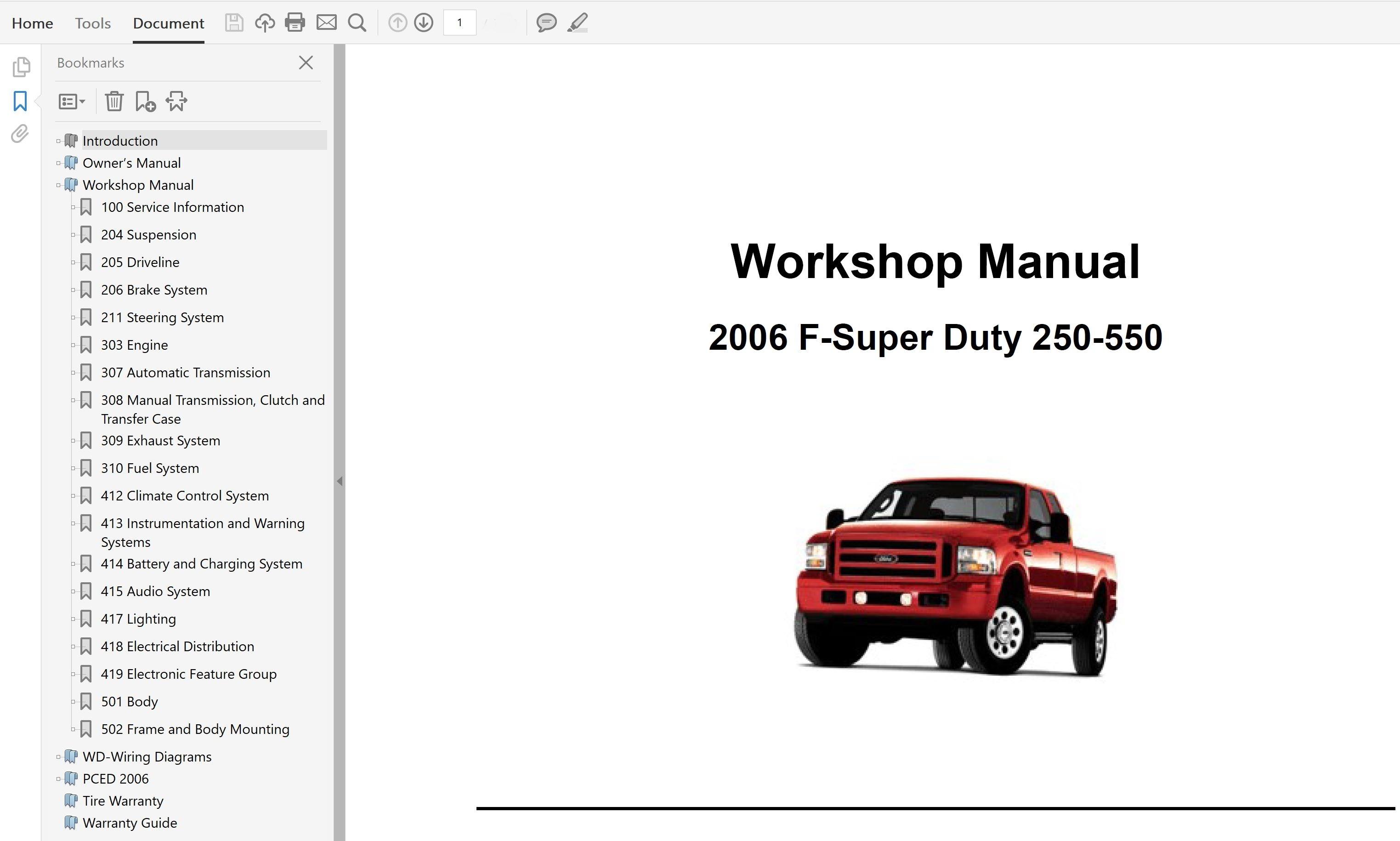 Ford F250 F350 F450 F550 Repair Manual