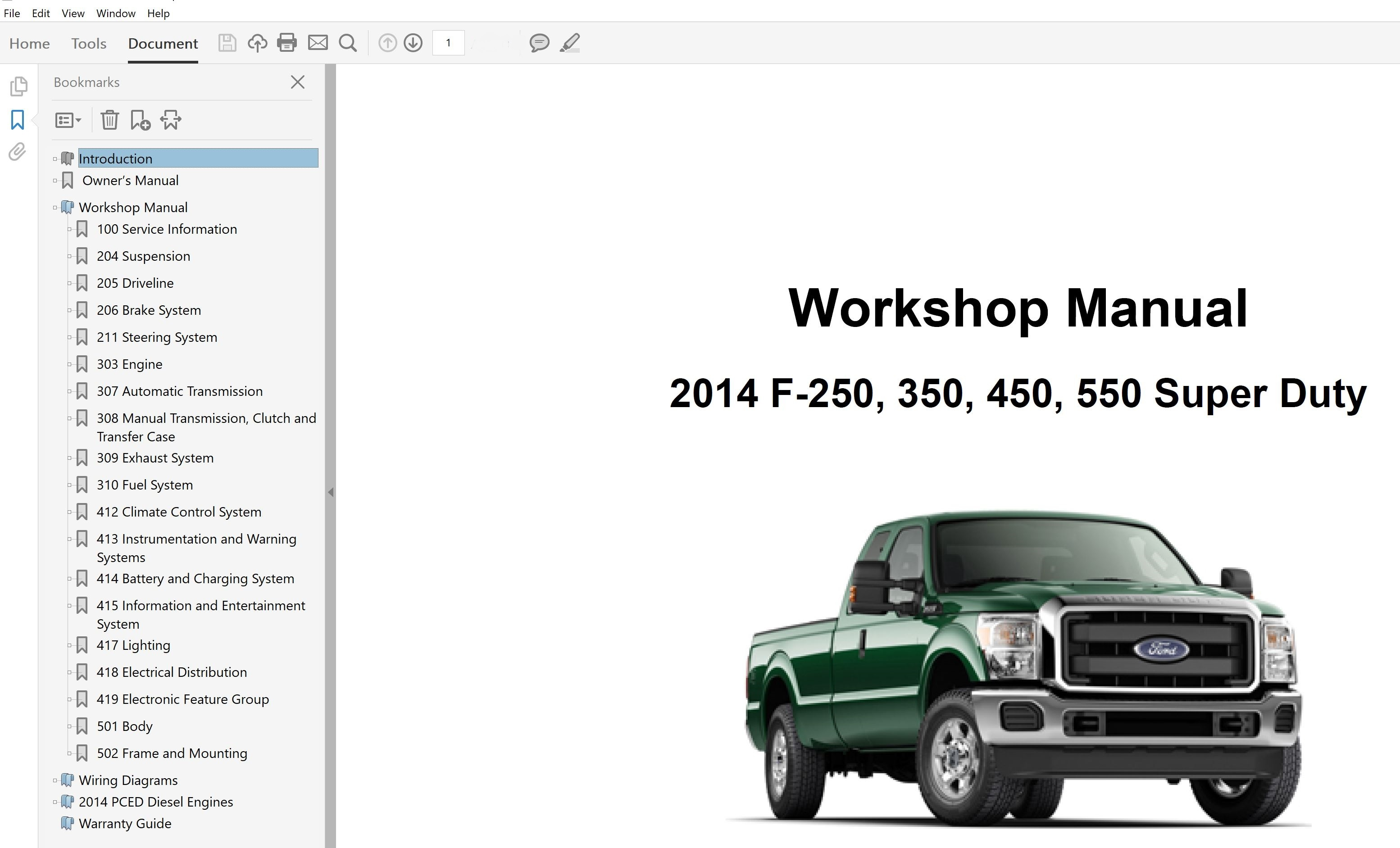 Ford F250 F350 F450 F550 Repair Manual