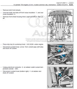 Audi Q7 20052009 factory repair manual | Factory Manual