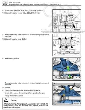 Audi A3 S3 20032008 repair manual | Factory Manual
