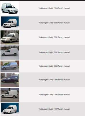 Volkswagen Caddy 19962003 repair manual | Factory Manual