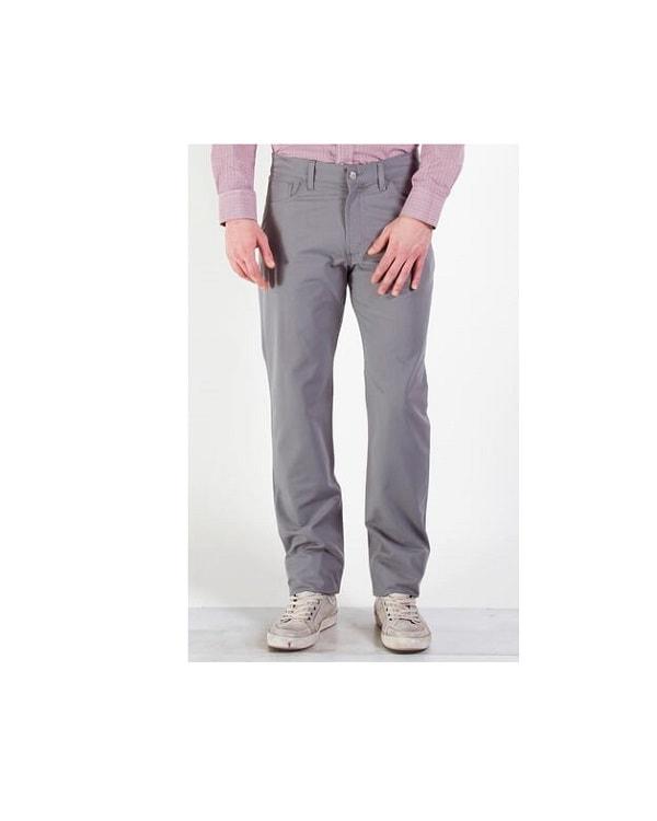 Pantalone Tela da Uomo Carrera 700 Regular Grigio