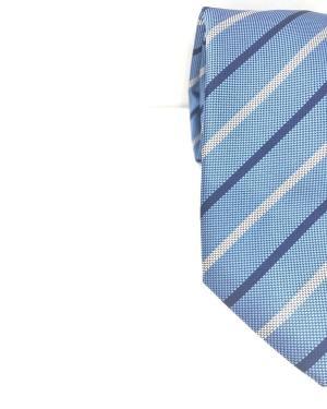 Cravatta Artigianale Regimental Pura Seta Celeste