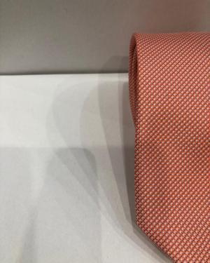 Cravatta Artigianale Pura Seta Arancione