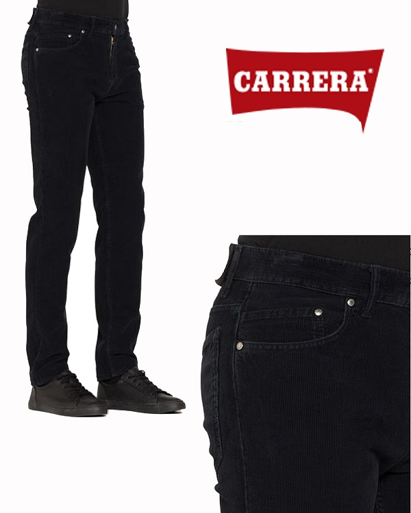 Pantalone Velluto da Uomo Carrera Blu