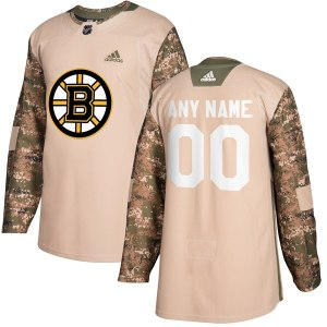 Men's Boston Bruins adidas Camo Veterans Day Custom Practice Jersey