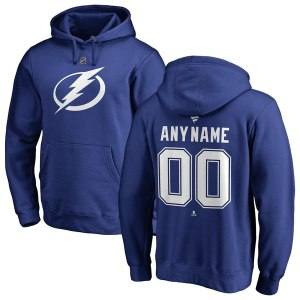 Men's Tampa Bay Lightning Fanatics Branded Blue Personalized Team Authentic Pullover Hoodie