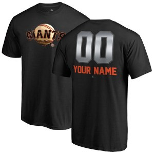 Men's San Francisco Giants Fanatics Branded Black Personalized Midnight Mascot T-Shirt