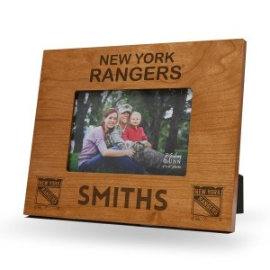 New York Rangers Sparo Brown 9.75'' x 7.75'' Personalized Wood Picture Frame