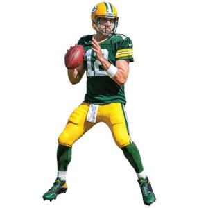 Green Bay Packers Aaron Rodgers Fathead Life Size Removable Wall Decal