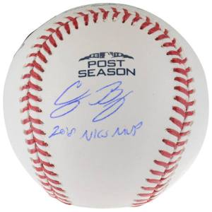 Los Angeles Dodgers Cody Bellinger Fanatics Authentic 2018 National League Champions MVP Autographed Postseason Logo Baseball with