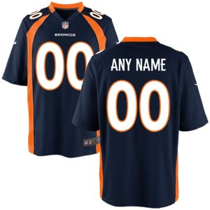 Mens Denver Broncos Nike Navy Blue Customized Alternate Game Jersey